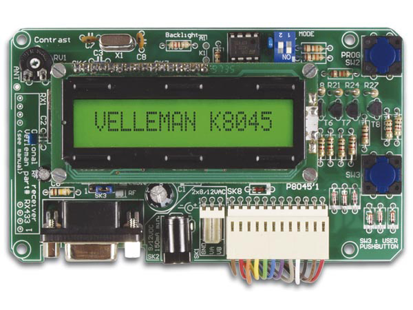 VELLEMAN KITS K8045 PROGRAMMEERBAAR MESSAGE BOARD MET LCD, SERIËLE INTERFACE & 8 INGANGEN