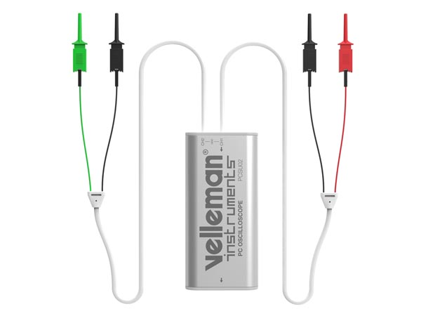 VELLEMAN INSTRUMENTS PCSU02 MINI 2-KANAALS PC-OSCILLOSCOOP MET USB-AANSLUITING