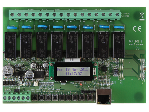 VELLEMAN MODULES VM201 ETHERNET RELAISKAART