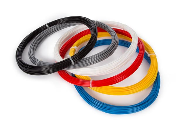 VELLEMAN VERTEX ABS175SET6 SET MET ABS-FILAMENT 1.75 mm - 6 KLEUREN - VOOR 3D-PRINTER EN 3D-PEN