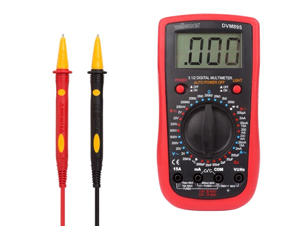 VELLEMAN DVM895 DIGITALE MULTIMETER - CAT. III 600 V / CAT IV 300 V - 1999 COUNTS