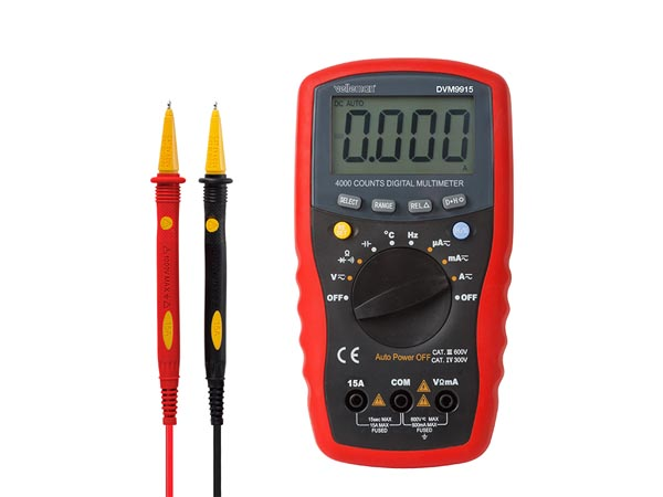 VELLEMAN DVM9915 DIGITALE MULTIMETER MET AUTOMATISCHE BEREIKINSTELLING - CAT. III 600 V / CAT. IV 300 V - 15 A - 4000 COUNTS
