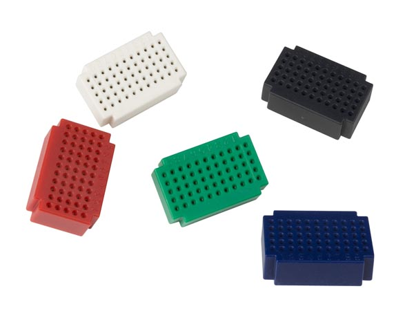 VELLEMAN VTBB6 SET MINI BREADBOARDS - 55 INSTEEKPUNTEN - 5 st.