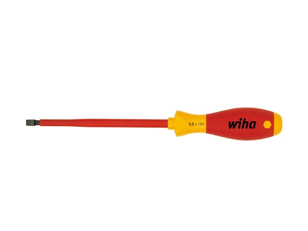 WIHA WH00829 Wiha Schroevendraaier SoftFinish electric sleufkop (00829) 6,5 mm x 150 mm