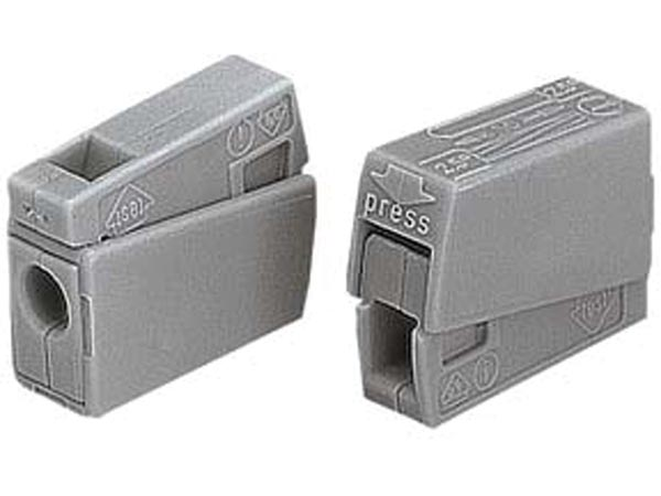 WAGO WG224101 LIGHTING CONNECTOR, 2.5mm, 105°, GREY