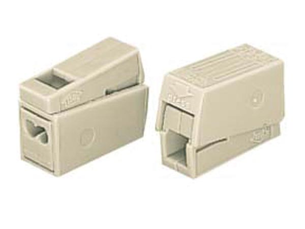 WAGO WG224112 LIGHTING CONNECTOR, 2.5mm, 2 RIGID - 1 FLEXIBLE, 105°, WHITE