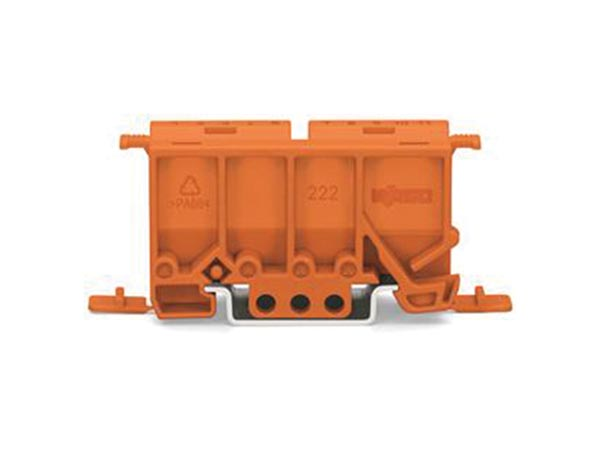WAGO WG222500 FIXING CARRIER FOR 2- TO 5-POLE COMPACT CONNECTORS, ORANGE