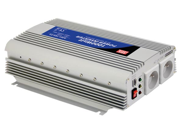 MEAN WELL A301-1K0-TE MEAN WELL - DC-AC INVERTER MET GEMODIFICEERDE SINUSGOLF - 1000 W - PENAARDE