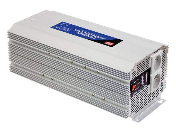 MEAN WELL A301-2K5-TE MEAN WELL - DC-AC INVERTER MET GEMODIFICEERDE SINUSGOLF - 2500 W - PENAARDE