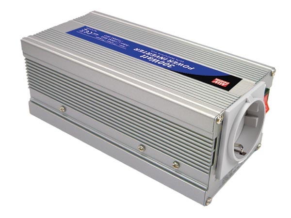 MEAN WELL A301-300-F3 MEAN WELL - DC-AC INVERTER MET GEMODIFICEERDE SINUSGOLF - 300 W - DUITS STOPCONTACT