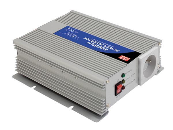 MEAN WELL A301-600-TE MEAN WELL - DC-AC INVERTER MET GEMODIFICEERDE SINUSGOLF - 600 W - PENAARDE