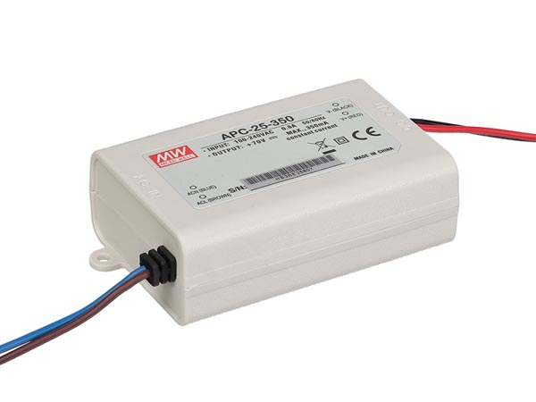 MEAN WELL APC-25-350 LED-DRIVER MET CONSTANTE STROOM - 1 UITGANG - 350 mA - 25 W