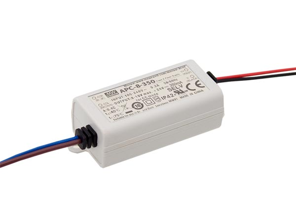 MEAN WELL APC-8-350 LED-DRIVER MET CONSTANTE STROOM - 1 UITGANG - 350 mA - 8.05 W
