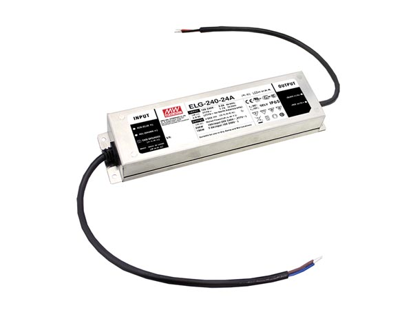 MEAN WELL ELG-240-24B-3Y AC-DC SINGLE OUTPUT LED DRIVER WITH PFC - 3 WIRE INPUT - ADJUST WITH POTMETER