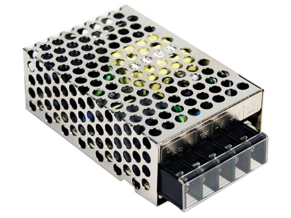 MEAN WELL RS-25-12 SCHAKELENDE VOEDING VOOR IT-APPARATUUR - 1 UITGANG - 25 W - 12 V - GESLOTEN CHASSIS