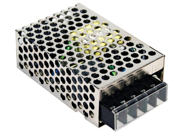 MEAN WELL RS-25-24 SCHAKELENDE VOEDING VOOR IT-APPARATUUR - 1 UITGANG - 25 W - 24 V - GESLOTEN CHASSIS
