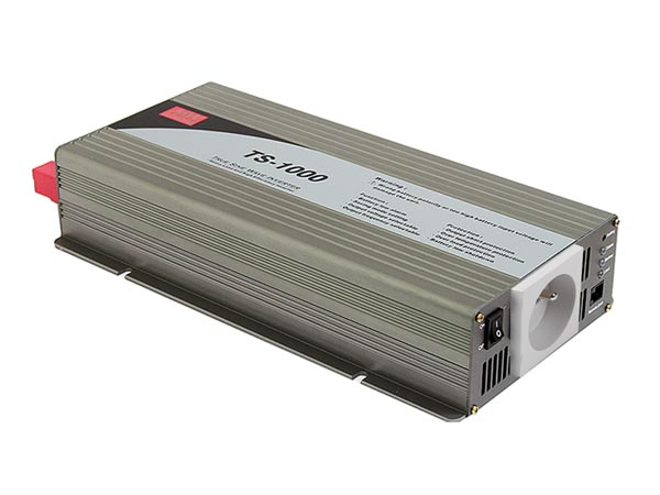 MEAN WELL TS-1000-212TE MEAN WELL - DC-AC INVERTER MET ZUIVERE SINUSGOLF  - 1000 W - PENAARDE