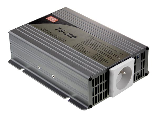 MEAN WELL TS-200-212TE MEAN WELL - DC-AC INVERTER MET ZUIVERE SINUSGOLF  - 200 W - PENAARDE