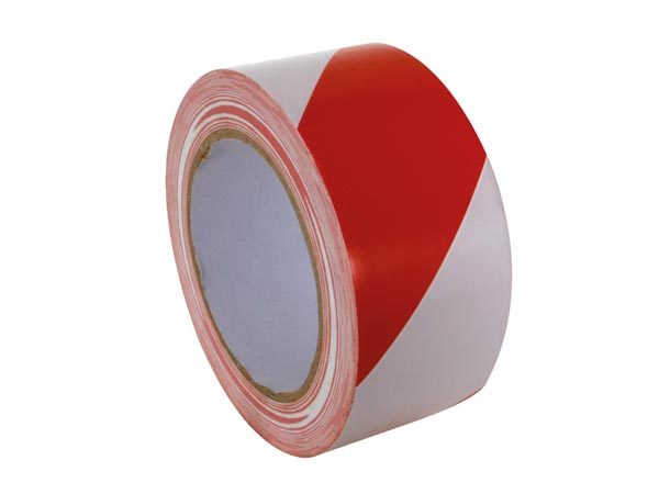 PEREL 500WR MARKEERTAPE - 50 mm x 33 m - ROOD/WIT