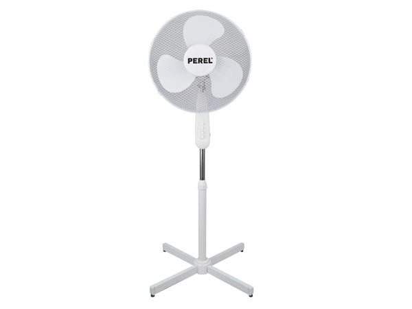 PEREL CFAN040PS STAANDE VENTILATOR - ABS - Ø 40 cm - WIT