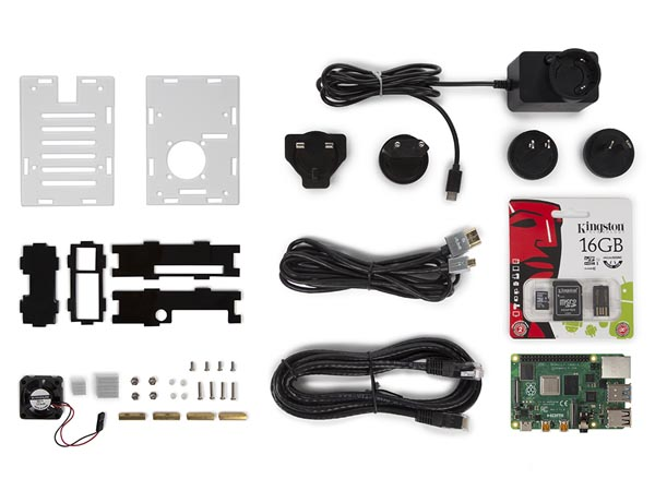 -1 PI4SET RASPBERRY PI® 4 STARTERKIT (2 GB)