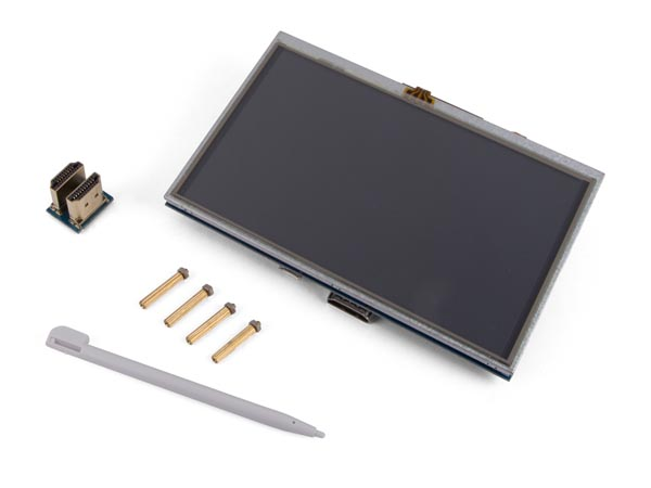 "VELLEMAN IO FOR RASPBERRY VMP401 HDMI-B TOUCHSCREEN VOOR RASPBERRY PI® - 5"" - 800 x 480"