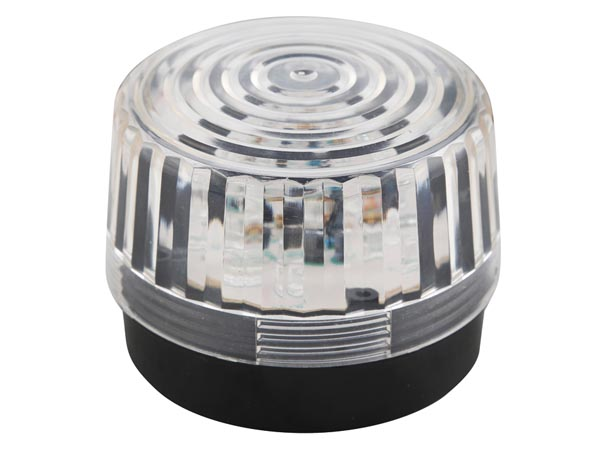 VELLEMAN HAA100WN LED-KNIPPERLICHT - TRANSPARANT - 12 VDC -  ø 100 mm