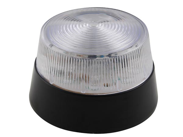 VELLEMAN HAA40WN LED-KNIPPERLICHT - TRANSPARANT - 12 VDC -  ø 77 mm
