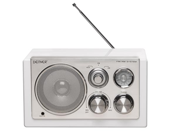 DENVER ELECTRONICS DV-10403 TR-61WHITE - RADIO MET ELEGANT DESIGN - WIT