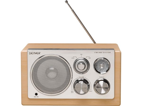 DENVER ELECTRONICS DV-10405 TR-64LIGHTWOOD - RADIO MET ELEGANT DESIGN - HOUTKLEUR