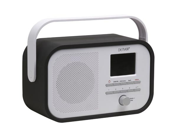 DENVER ELECTRONICS DV-10506 DAB-40BLACK - DAB+/FM-RADIO MET DAB-SLIDESHOW - ZWART