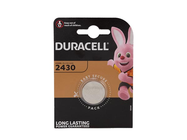 DURACELL BDCR2430-BL1 DURACELL - LITHIUM KNOOPCEL 3 V - DL2430