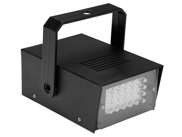HQ-POWER HQPL10001 MINI STROBOSCOOP MET WITTE LEDs - 24 LEDs - OP BATTERIJEN