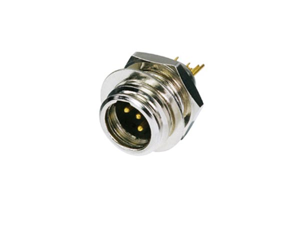 REAN BY NEUTRIK RT4MP REAN TINY - 4-POLIGE MINI XLR-CONNECTOR, VERNIKKELD, VERGULDE CONTACTEN