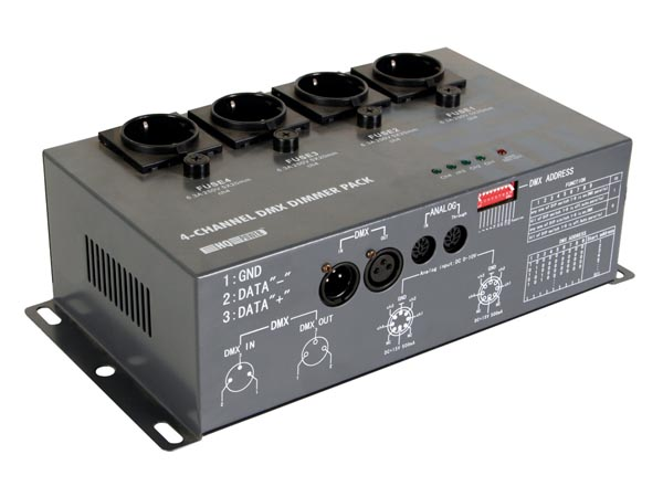 HQ-POWER VDPDP152 4-KANAALS DMX DIMMERPACK - 4 x 5 A