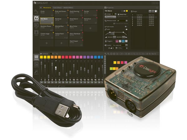 DASLIGHT VDPDVC4GOLD DASLIGHT DVC4 GOLD VIRTUELE DMX-CONTROLLER MET USB-DMX INTERFACE