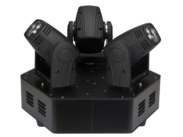 HQ-POWER VDPL310MB TRIMO 310 - MOVING HEAD MET 3 KOPPEN - 3x10W WITTE LED