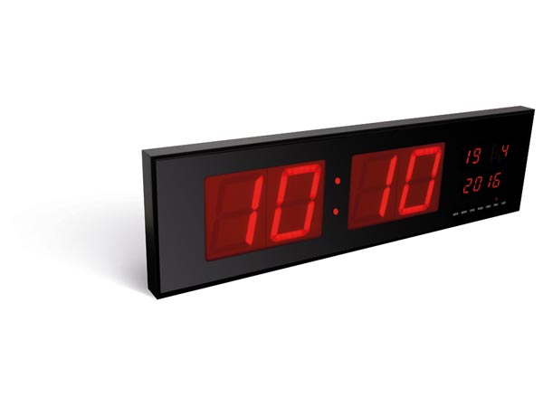 PEREL WC208 WANDKLOK MET LED-DISPLAY