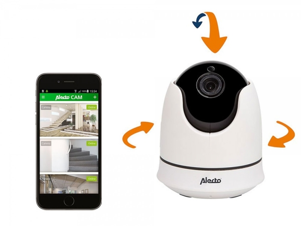 Alecto DVC-165IP draadloze IP WiFi camera pan/tilt