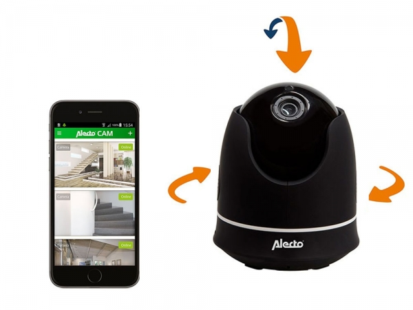 Alecto DVC-155IP draadloze IP WiFi camera pan/tilt