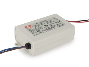 MEAN WELL APC-25-500 CONSTANT CURRENT LED DRIVER - SINGLE OUTPUT - 500 mA - 25 W
