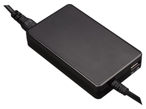 VELLEMAN PSSE40 UNIVERSELE MINI NOTEBOOKADAPTER - UITGANG 19 VDC - 4.74 A MAX. (90 W) + USB 2.1 A - ZONDER PLUGGEN