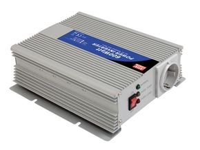 MEAN WELL A301-600-F3 MEAN WELL - DC-AC INVERTER MET GEMODIFICEERDE SINUSGOLF - 600 W - DUITS STOPCONTACT